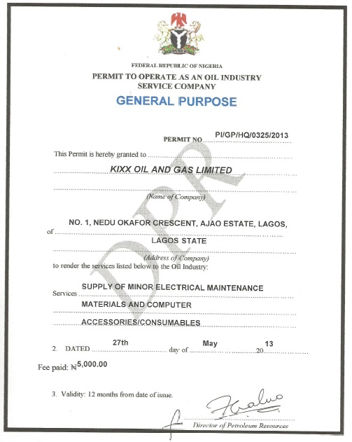 DPR Certificate